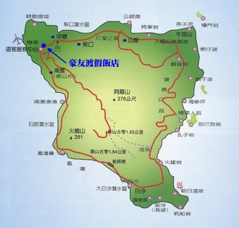 绿岛旅游景点地图