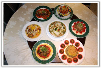 台北法华素食~素食年菜团圆饭,农历春节,除夕围炉年